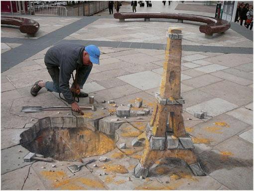 Los 13 dibujos 3D callejeros mas originales