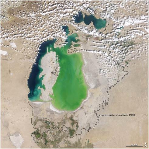 Mar Aral año 2000
