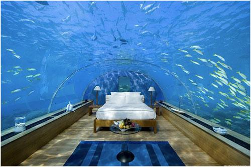 durmiendo bajo el agua en maldivas la reserva On hotel bajo el agua en maldivas