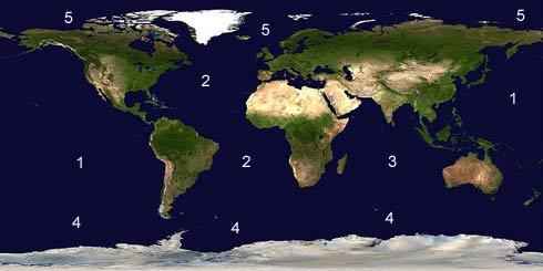 datos de la tierra Mapamundiw
