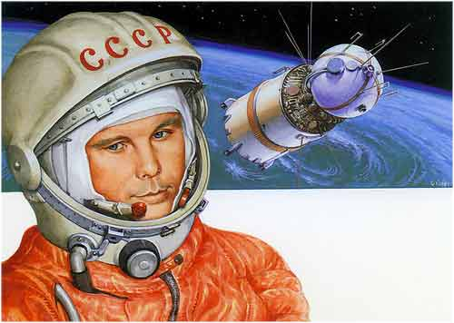 Resultado de imagen para yuri gagarin en el espacio