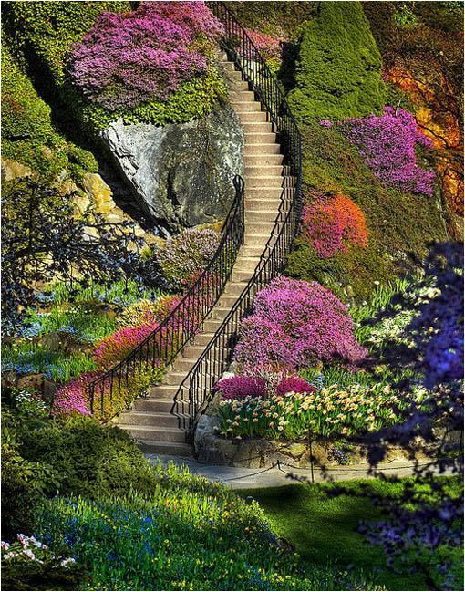 estas hectreas de floridos jardines se encuentran en la isla de vancouver a la provincia de la columbia britnica canad